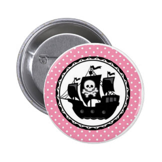 Pirate Ship Personalized 2 Inch Round Button