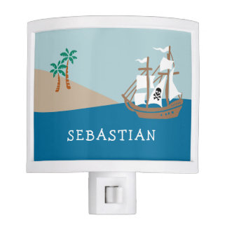 Pirate Ship Personalized Kids' Nite Lights