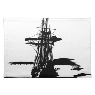 pirate ship placemat