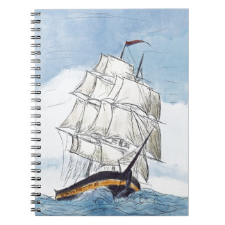 Pirate Ship Portrait Gift Notebook