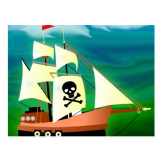 Pirate Ship Post Cards