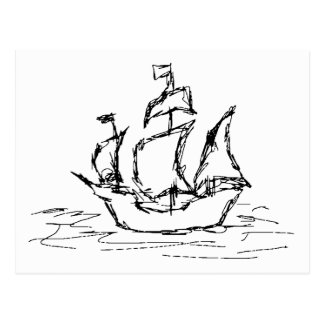 Pirate Ship. Postcard