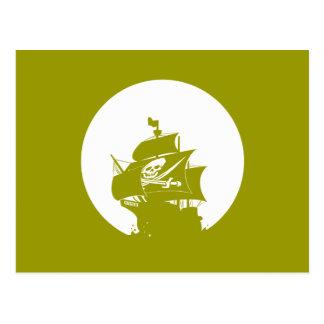 Pirate Ship Post Card