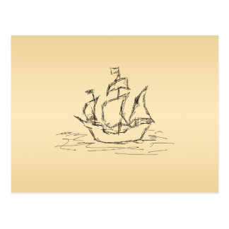 Pirate ship. post cards