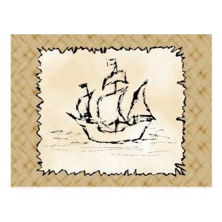 Pirate Ship. Postcard