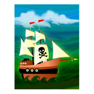 Pirate Ship Postcard