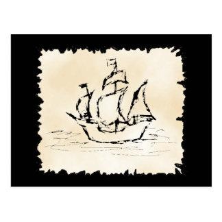Pirate Ship. Post Card