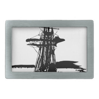 pirate ship rectangular belt buckles