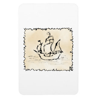 Pirate Ship. Rectangular Photo Magnet