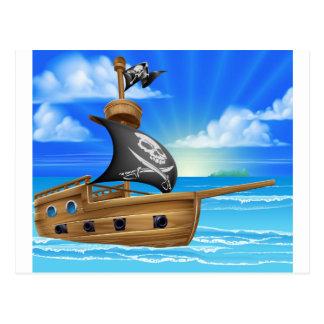 Pirate Ship Sailing Postcard