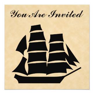 Pirate Ship. Sailing Ship. Card