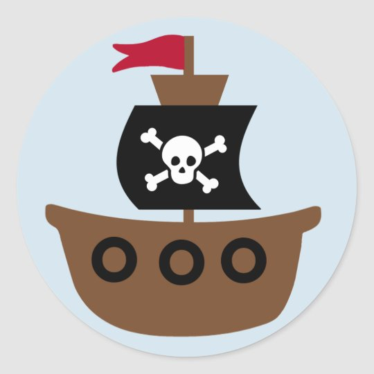 Pirate ship sticker for kids
