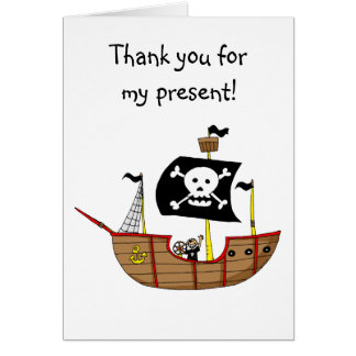 Pirate ship, Thank you for my present Card