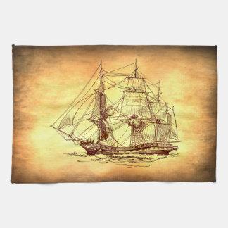 pirate ship towel
