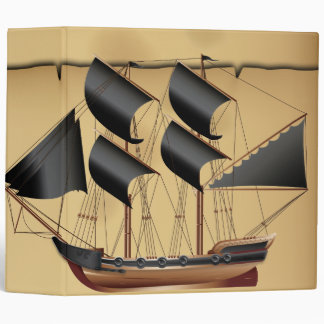 Pirate Ship Vinyl Binder