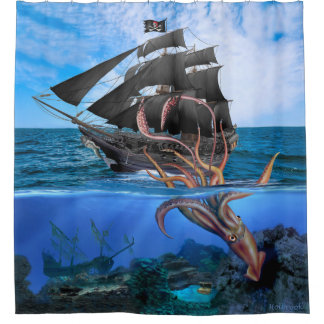 Pirate Ship vs The Giant Squid