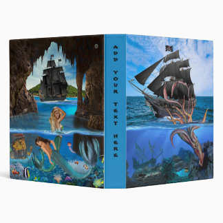 Pirate Ship vs The Giant Squid 3 Ring Binder
