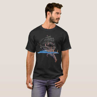Pirate Ship vs The Giant Squid T-Shirt
