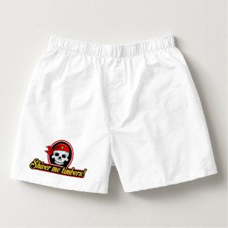 Pirate Shiver me timbers! Mens Boxers