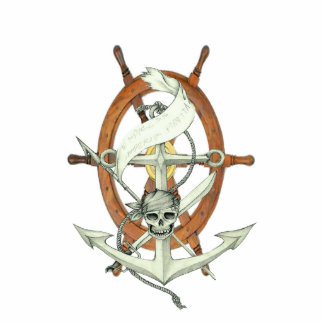 Pirate Sigil Photo Sculpture Keychain