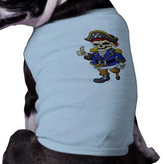 pirate skeleton cartoon doggie t shirt