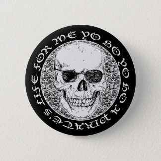 pirate skull 2 inch round button