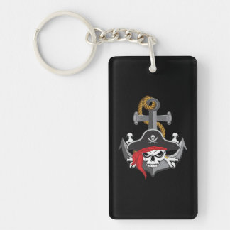 Pirate Skull Anchor Keychain