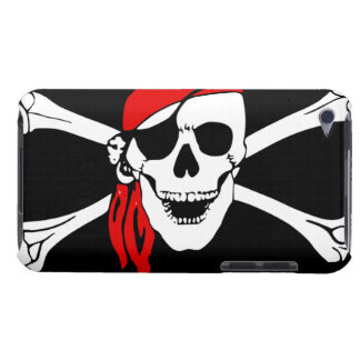 Pirate Skull and cross bones Barely There iPod Cover