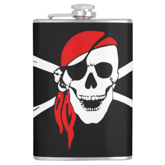 Pirate Skull and cross bones Hip Flask