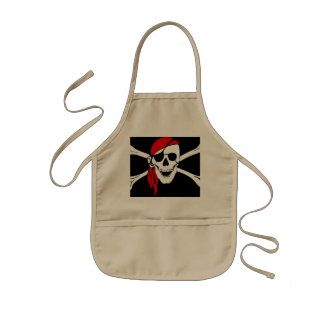 Pirate Skull and cross bones Kids Apron