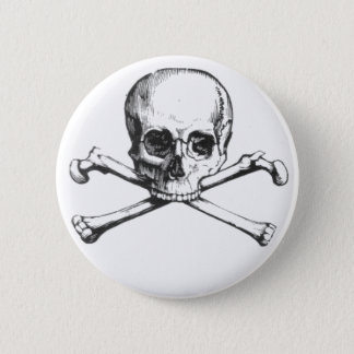 Pirate Skull and Crossbone 2 Inch Round Button