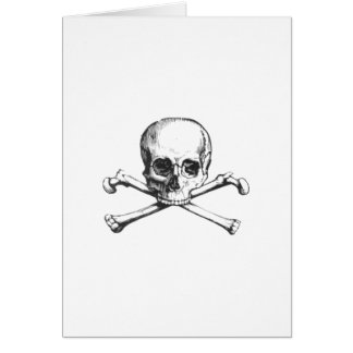 Pirate Skull and Crossbone Card