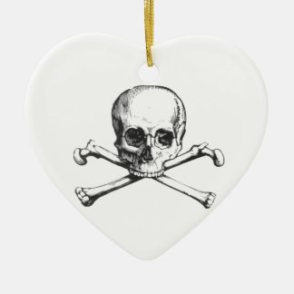 Pirate Skull and Crossbone Ceramic Ornament
