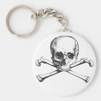 Pirate Skull and Crossbone Keychain