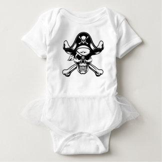 Pirate Skull and Crossbones Baby Bodysuit
