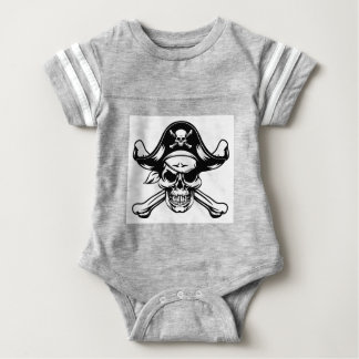 Pirate Skull and Crossbones Baby Bodysuit