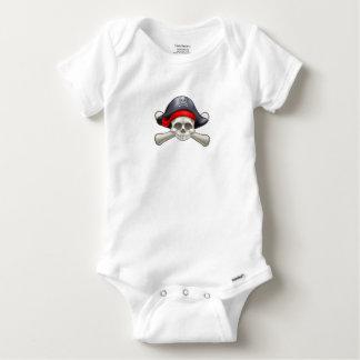 Pirate Skull and Crossbones Baby Onesie