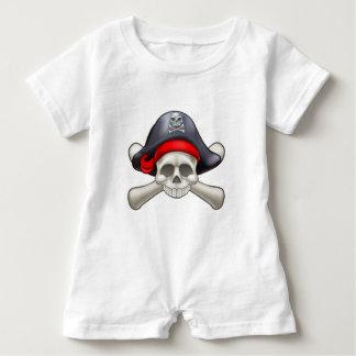 Pirate Skull and Crossbones Baby Romper