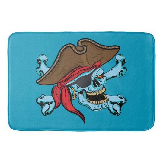 Pirate Skull and Crossbones Bathroom Mat