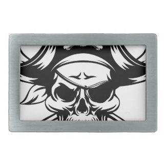 Pirate Skull and Crossbones Belt Buckles