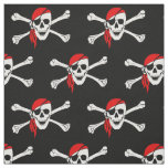 Pirate skull and crossbones fabric
