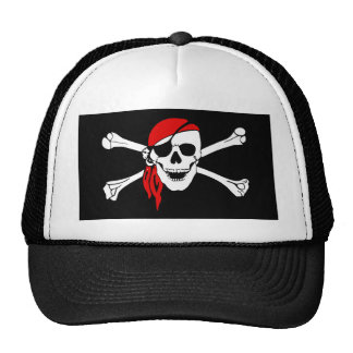 Pirate Skull and crossbones Flag Trucker Hat