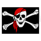 Pirate Skull and Crossbones Greeting Card