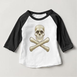 Pirate Skull and Crossbones Halloween Cartoon Baby T-Shirt
