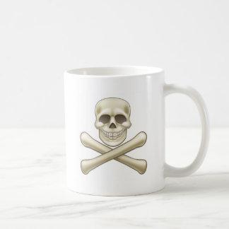 Pirate Skull and Crossbones Halloween Cartoon Coffee Mug