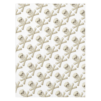 Pirate Skull and Crossbones Halloween Cartoon Tablecloth