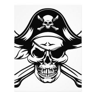Pirate Skull and Crossbones Letterhead