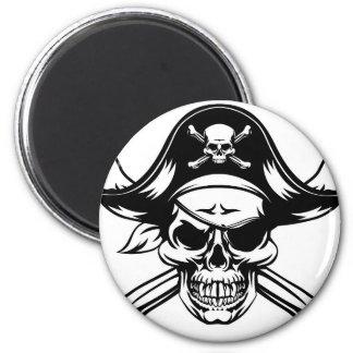 Pirate Skull and Crossbones Magnet