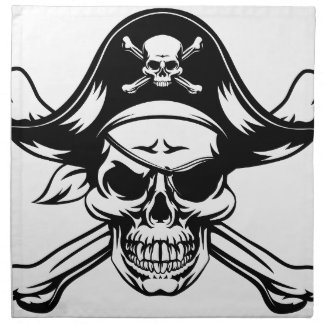 Pirate Skull and Crossbones Napkin