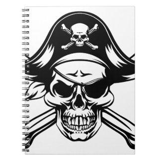 Pirate Skull and Crossbones Notebooks